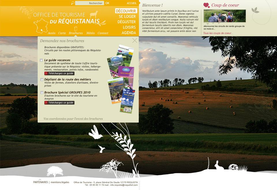 L 39 le du boucanier webdesigner charte graphique de l 39 office de tourisme du r quistanais aveyron - Office de tourisme aveyron ...